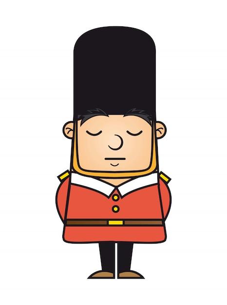 London guard izolowanych ponad białym tle ilustracji wektorowych Premium Wektorów