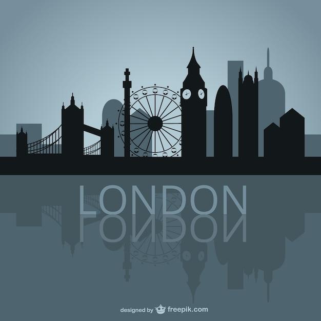 Londyn skyline wektora projektowania Darmowych Wektorów