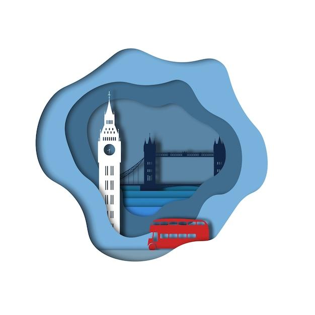 Londyńska papierowa sztuka Premium Wektorów