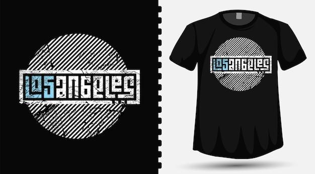 Los Angeles Napis Szablon Projektu Typografii Dla T Shirt Moda Odzież I Plakat Premium Wektorów