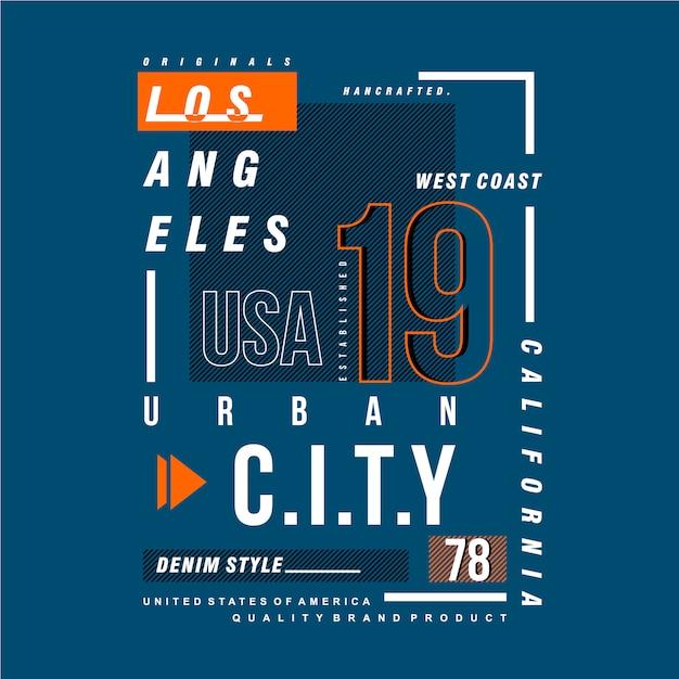 Los Angeles Projekt Graficzny Miejskich Odzieży Premium Wektorów