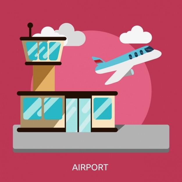 Lotnisko Wzór Tła Darmowych Wektorów