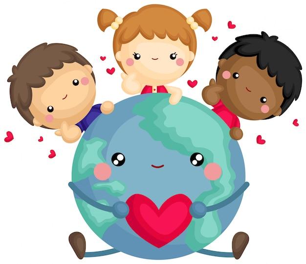 Love The World Darmowych Wektorów