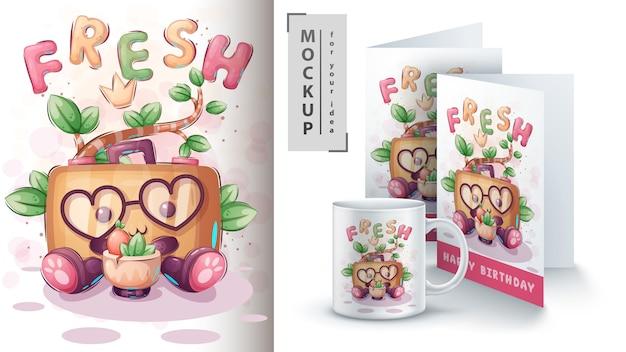 Love Walizka - Plakat I Merchandising. Darmowych Wektorów