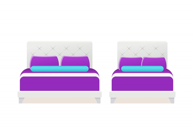 Łóżko Ikona Wektor Premium Wektorów