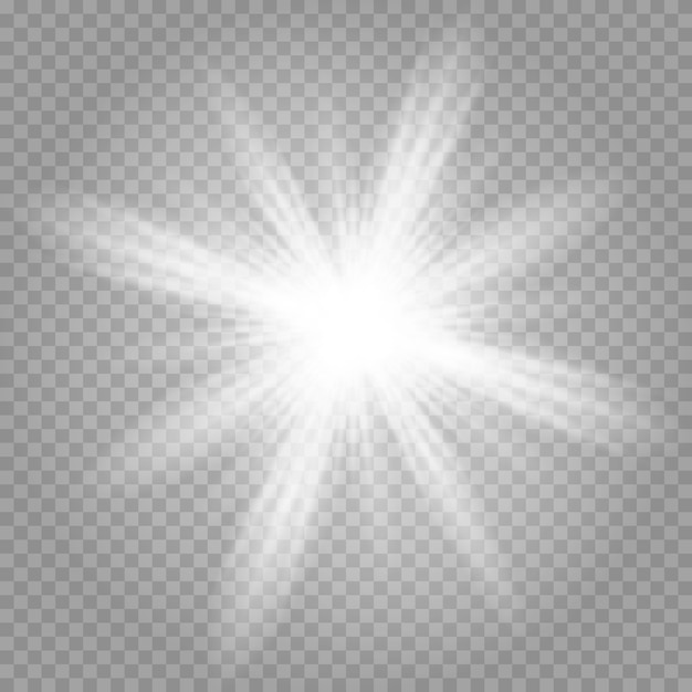 Lśniące magiczne cząsteczki pyłu. jasna gwiazda. Premium Wektorów