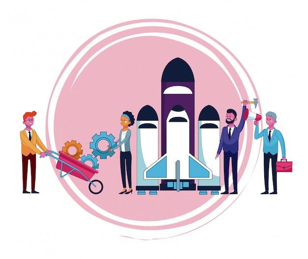 Ludzie Biznesu Kreskówek Premium Wektorów
