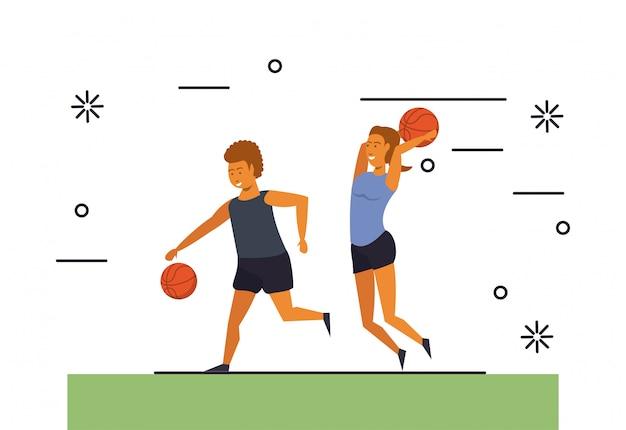 Ludzie Fitness Treningi Sportowe Darmowych Wektorów