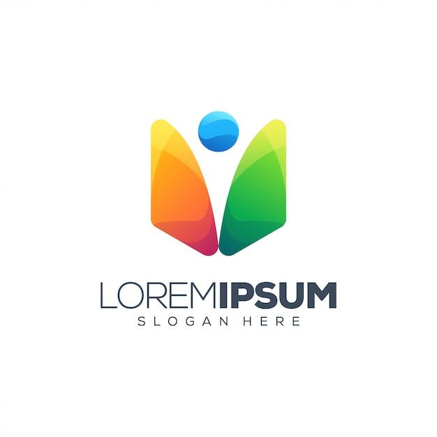 Ludzie logo wektor ilustracja Premium Wektorów