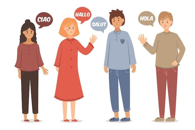 Ludzie Rozmawiają W Różnych Językach Darmowych Wektorów