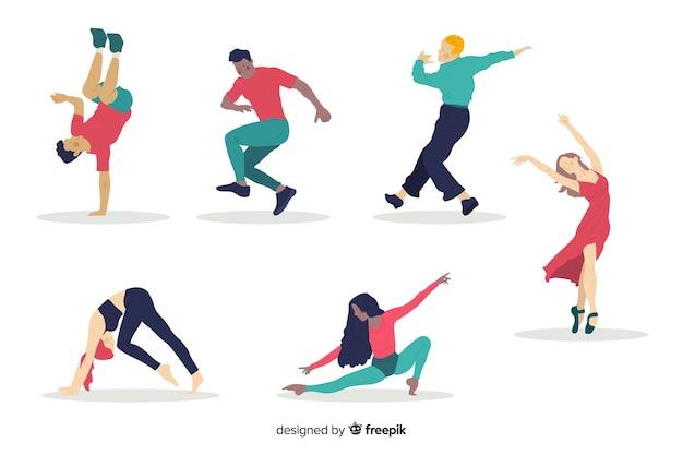 Ludzie Tańczą Kolekcję Darmowych Wektorów