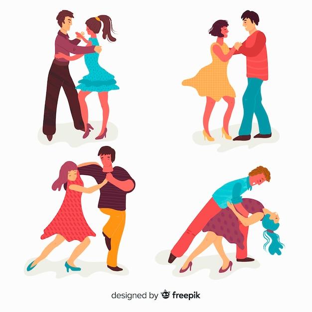 Ludzie tańczą Darmowych Wektorów