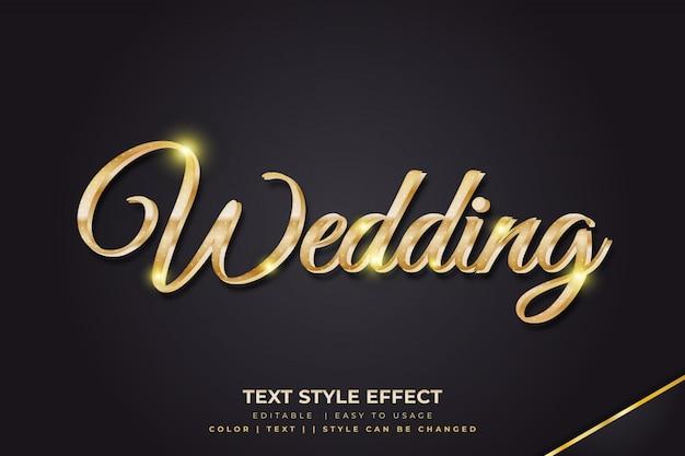 Luksusowe Efekty W Stylu Tekstu 3d Ze Złotymi Gradientami Premium Wektorów