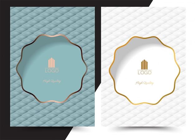 Luksusowe Geometryczne Menu Okładki Premium Wektorów