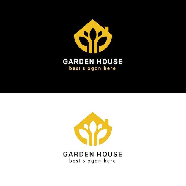 Luksusowe i eleganckie logotypy nieruchomości Premium Wektorów