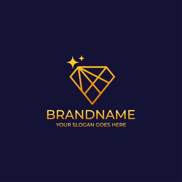 Luksusowe Logo Diamentowe Premium Wektorów