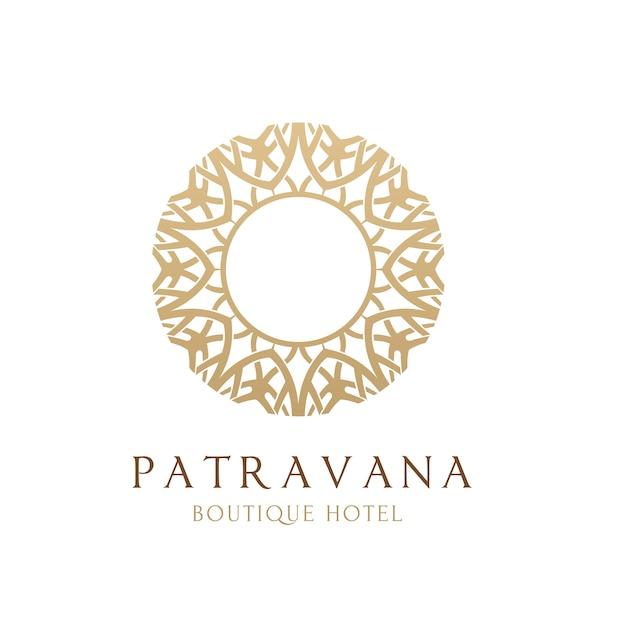 Luksusowe logo. logo crests. projekt logo hotelu, kurortu, restauracji, nieruchomości, spa, tożsamości marki mody Premium Wektorów