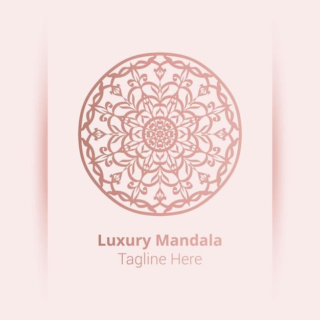 Luksusowe Logo Mandali, Styl Arabeski. Premium Wektorów
