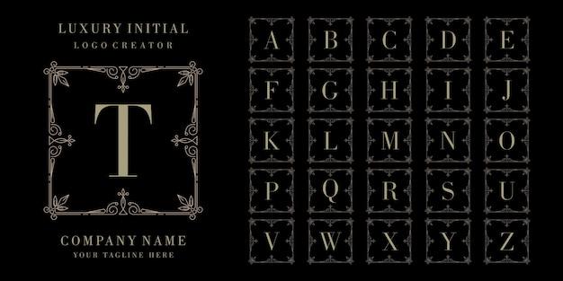 Luksusowe logo początkowej odznaki premium Premium Wektorów