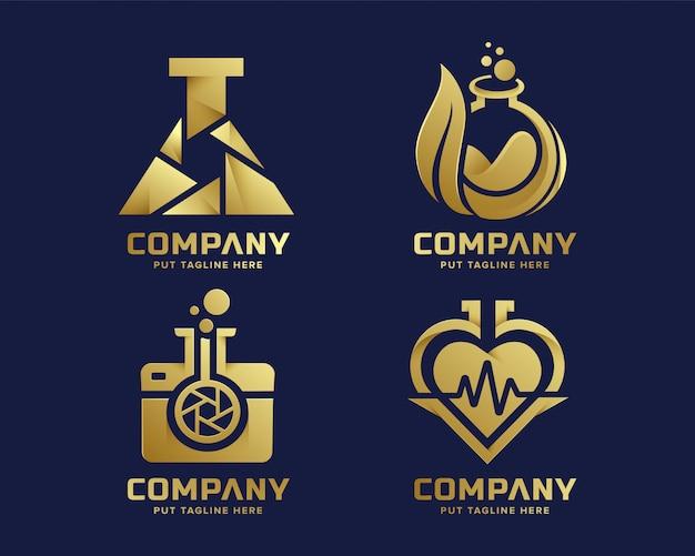 Luksusowe Logo Pracy Premium Premium Wektorów