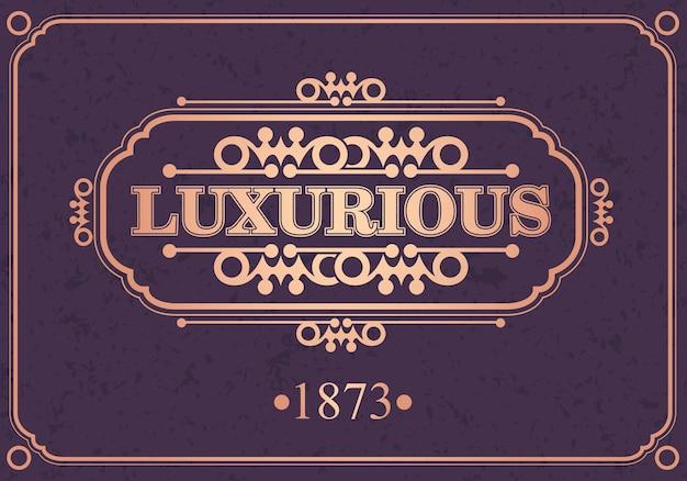 Luksusowe Obramowanie Kaligraficzne, Premium Wektorów