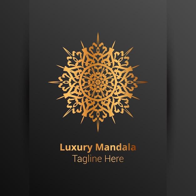 Luksusowe Ozdobne Logo Mandali W Stylu Arabeski Premium Wektorów