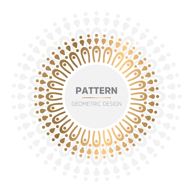 Luksusowe ozdobne tło mandali w kolorze złotym Darmowych Wektorów