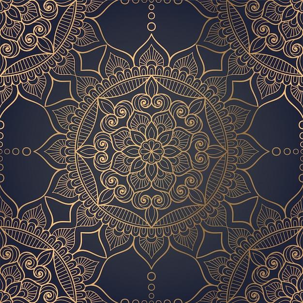 Luksusowe ozdobne tło mandali Darmowych Wektorów