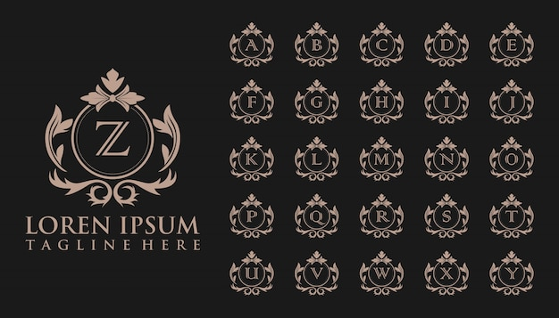 Luksusowe początkowe logo znaczek, szablon Premium Wektorów