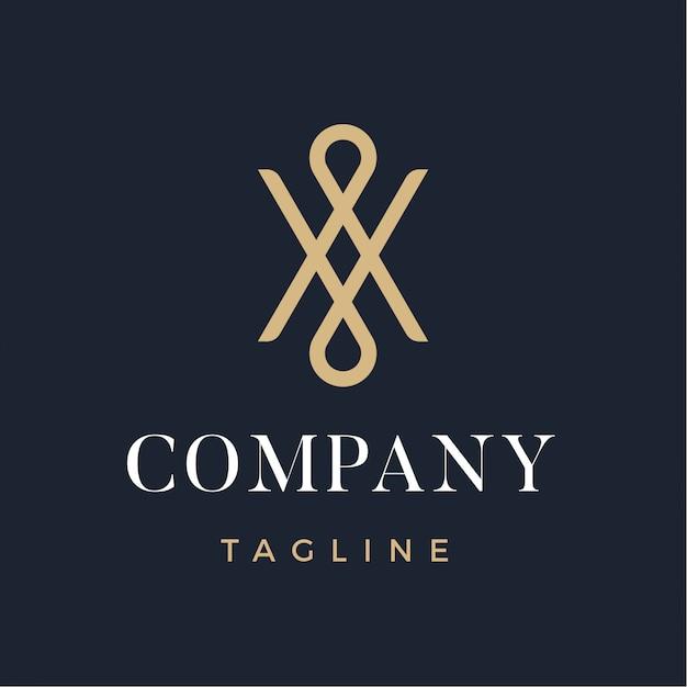 Luksusowe streszczenie nowoczesne logo Premium Wektorów