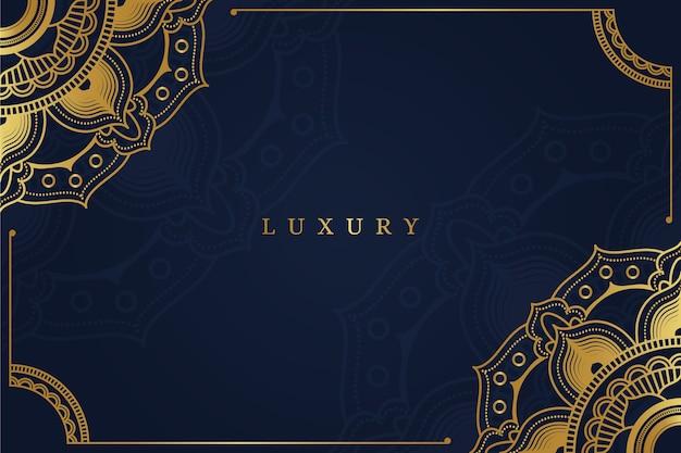 Luksusowe Tło Mandali Darmowych Wektorów