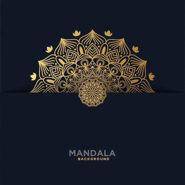 Luksusowe tło mandali Premium Wektorów