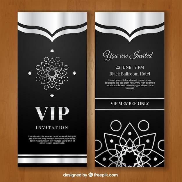 Luksusowe Zaproszenie Na Vip Wektor Darmowe Pobieranie