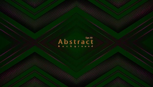 Luksusowe Zielone Ciemne Tło Z Półtonów Dekoracji Papercut Premium Wektorów