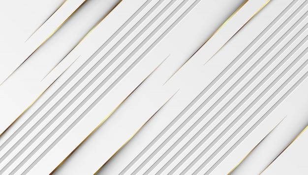 Luksusowe Złote Linie świetlne Z Białym Szarym Tłem Premium Wektorów