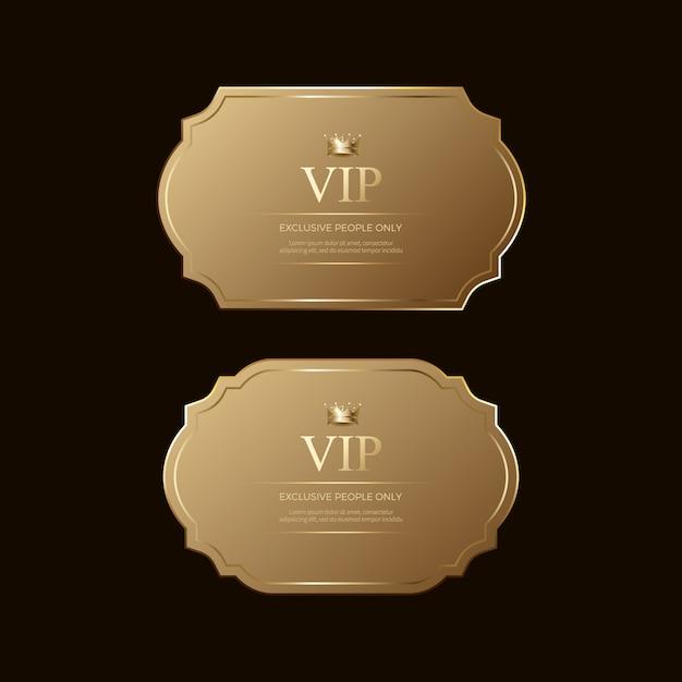 Luksusowe Złote Odznaki I Etykiety Premium Premium Wektorów