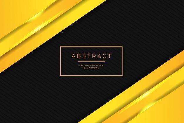 Luksusowy Abstrakcjonistyczny Tło. Kolor żółty I Czarny. Premium Wektorów