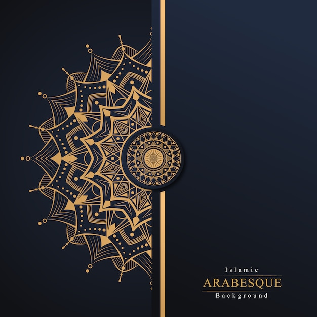Luksusowy islamski arabeska mandali tło Premium Wektorów