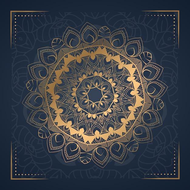 Luksusowy ornament mandali tło Premium Wektorów