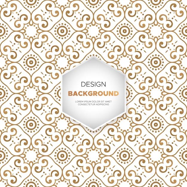 Luksusowy ornamentacyjny tło w złocistym kolorze Darmowych Wektorów