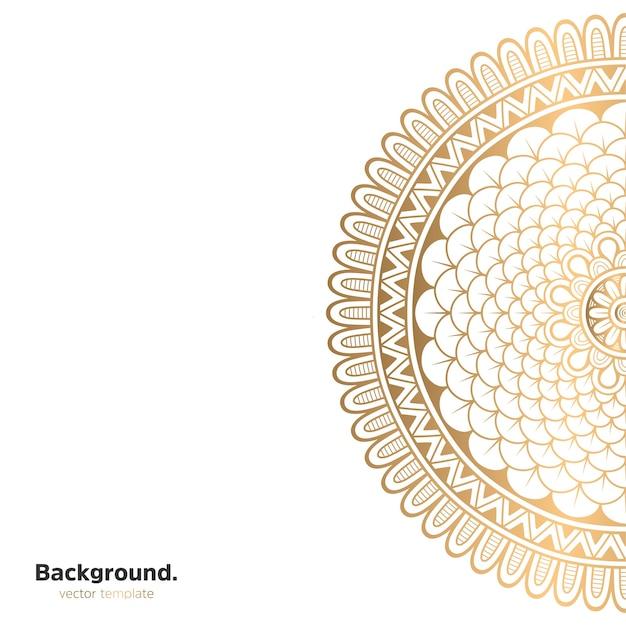 Luksusowy Ozdobny Mandali Projekt Tło W Kolorze Złotym Darmowych Wektorów