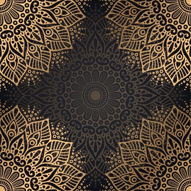Luksusowy ozdobnych mandali wzór tła Darmowych Wektorów