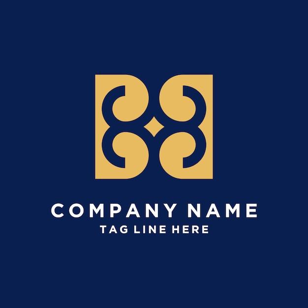 Luksusowy streszczenie logo z listu b Premium Wektorów