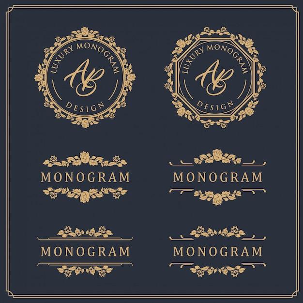 Luksusowy szablon do ślubu i dekoracji Premium Wektorów