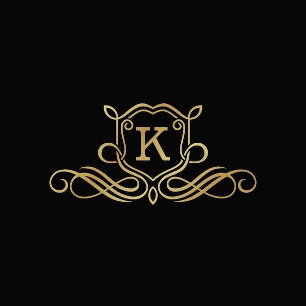 Luksusowy szablon heraldyczny godło Premium Wektorów