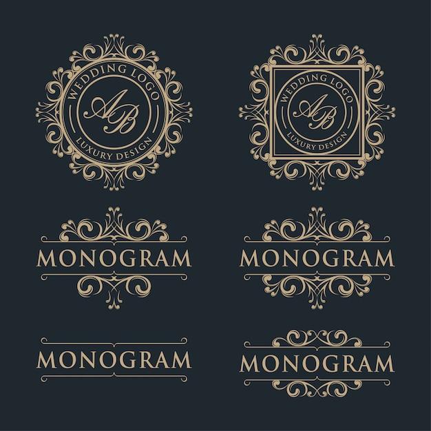 Luksusowy szablon projektu logo Premium Wektorów