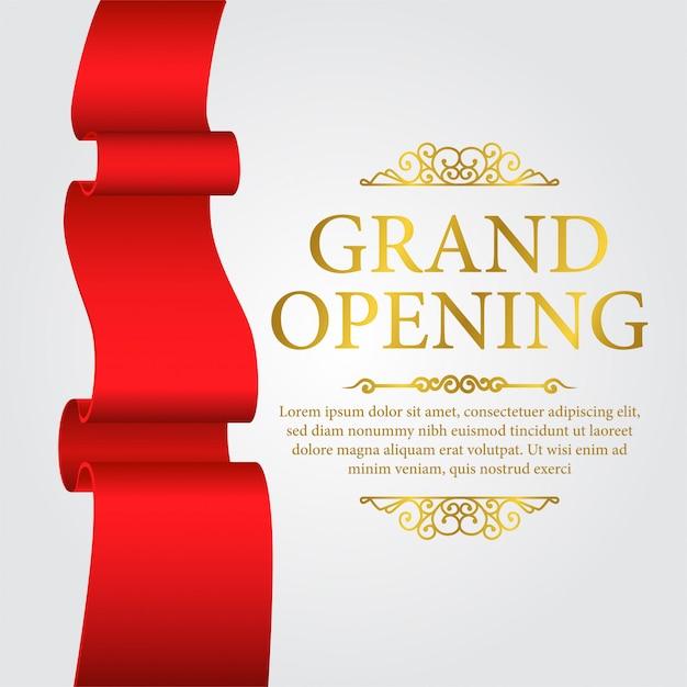 Luksusowy szablon transparent grand opening Premium Wektorów