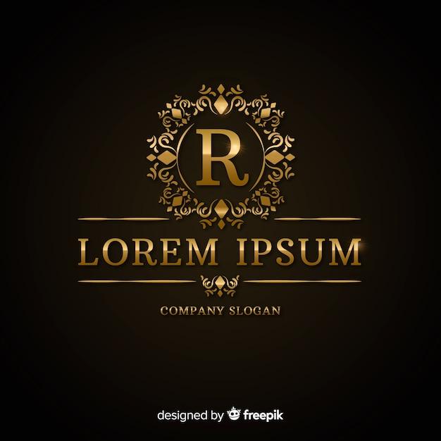 Luksusowy szablon złote logo Darmowych Wektorów