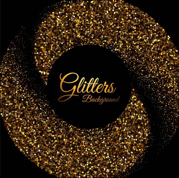 Luksusowy tło z złotym cząsteczki tłem Darmowych Wektorów