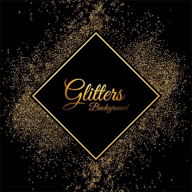 Luksusowy tło z złotymi cząsteczkami obramia tło Darmowych Wektorów